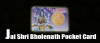 Jai shri bholenath pocket card