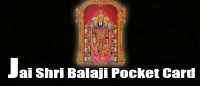 Jai shri balaji pocket card