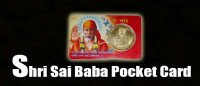 Jai shri sai baba pocket card