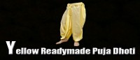 Yellow readymade puja dhoti