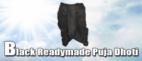 Black readymade puja dhoti